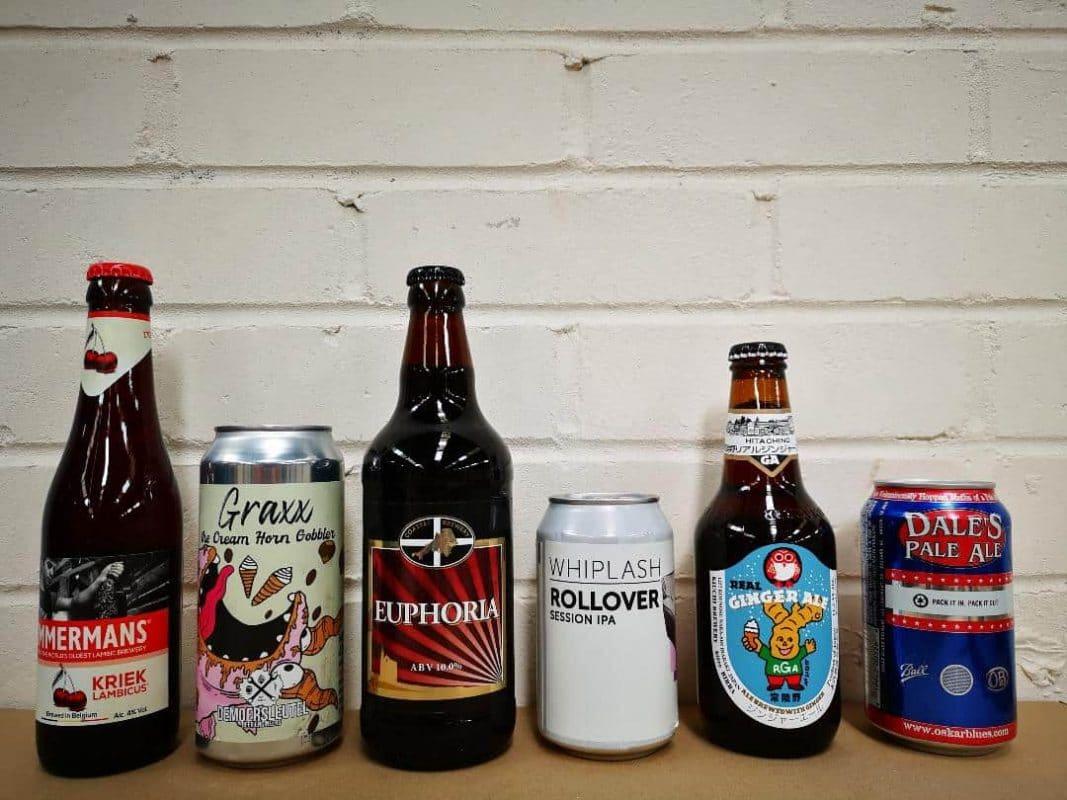 assortment of mixed beers