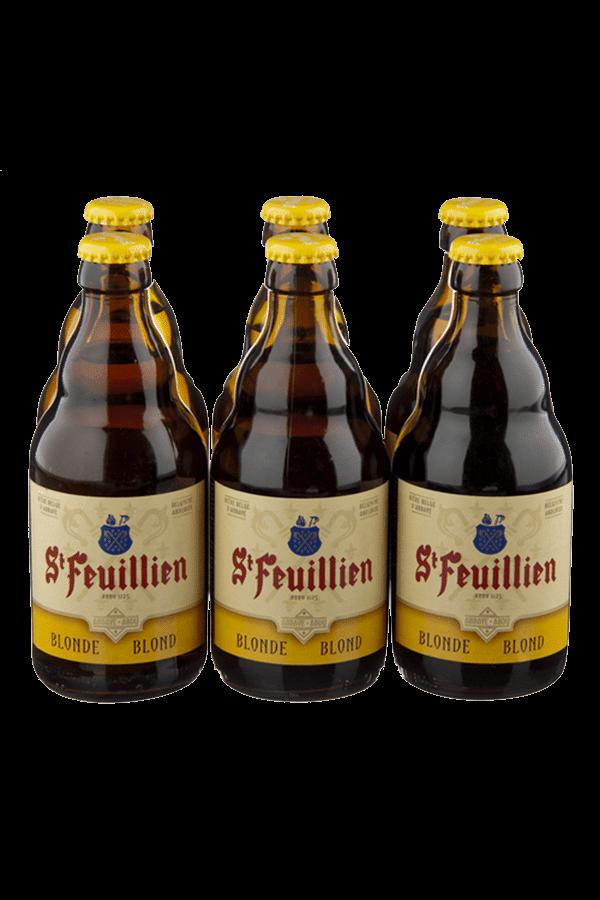 St Feuillien Blonde Beer Bottle