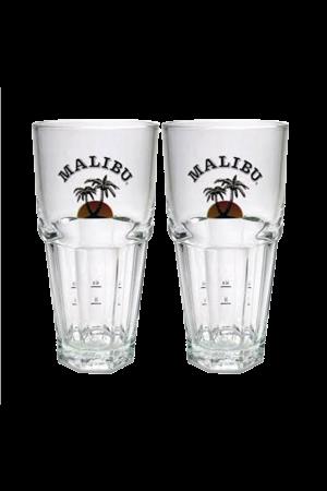 2 Malibu Glasses
