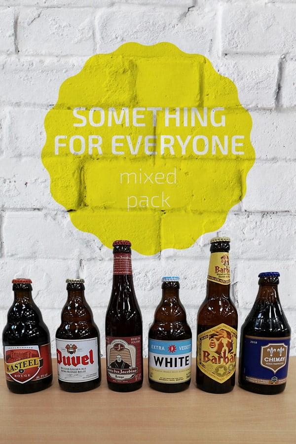Bottles Of Belgium Beers In A Row