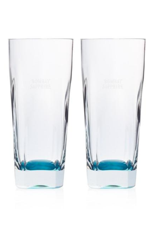 2 Bombay Sapphire Gin Glasses