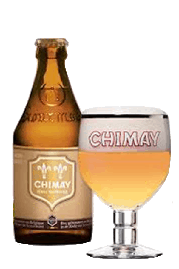 Chimay Gold Bottle and Glass