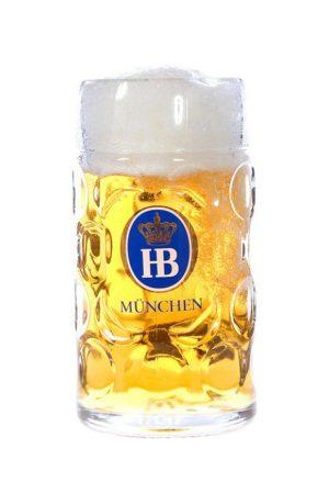 Hofbrau Litre Glass Stein