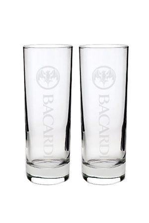 2 Bacardi Rum Cuba Libre Glasses