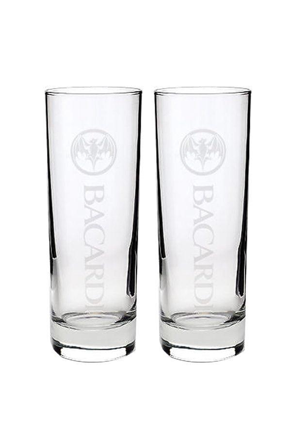 2 Bacardi Rum Glasses