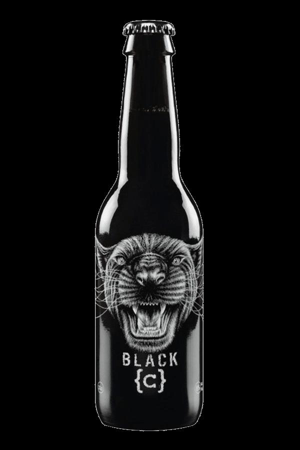 Black C Beer Bottle