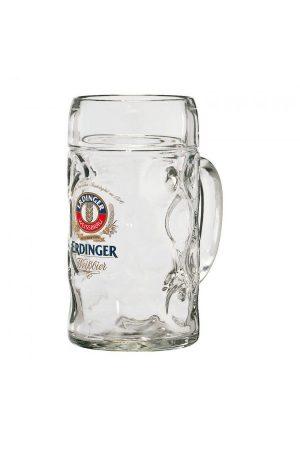 Erdinger Litre Glass Stein