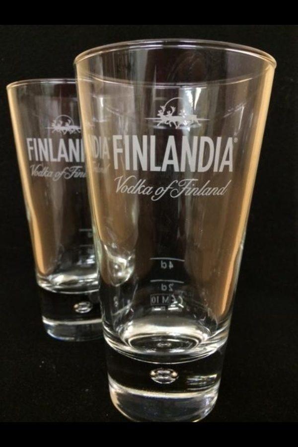 2 Finlandia Vodka Glasses