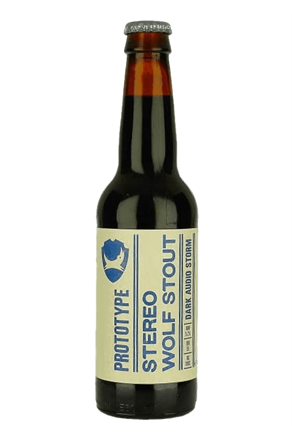 bottle of stereo wolf stout