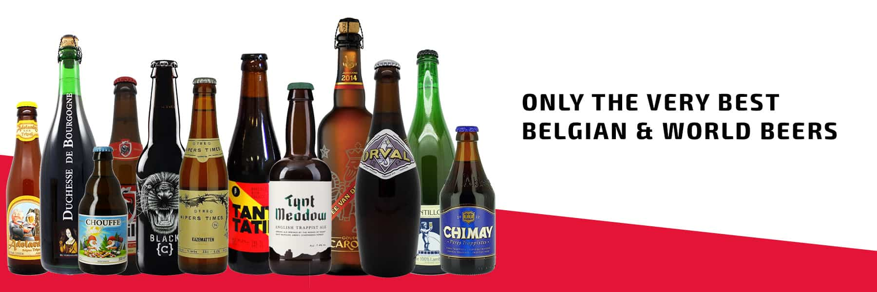 Only The Very Best Belgian and World Beers Banner