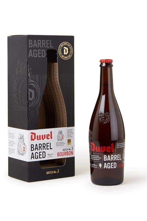 Duvel Barrel Aged Batch 3 bottle in box