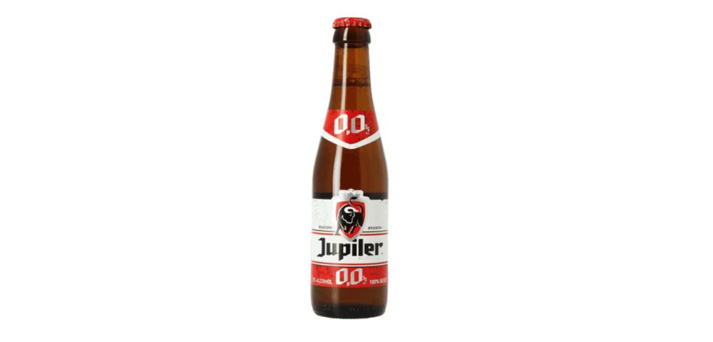 jupiler alcohol free beer bottle