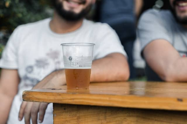 Man at a beer festival