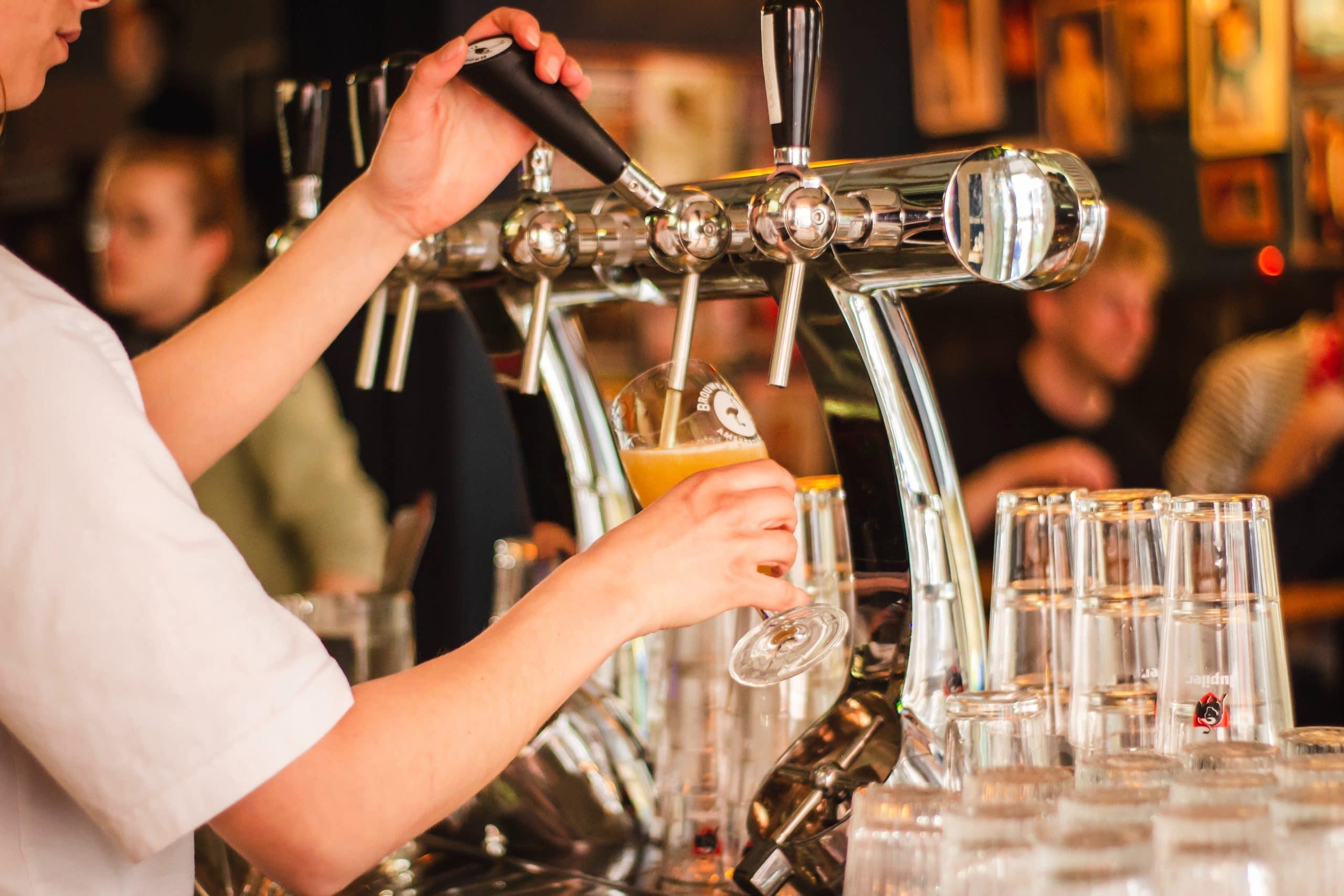 Belgian Beer Poured From Pump